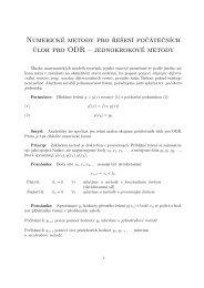 Numerické metody pro řešení počátečních úloh pro ODR ...