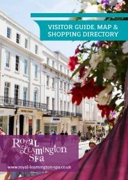 visitor guide, map & shopping directory - Royal Leamington Spa