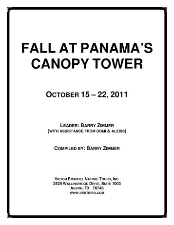 Fall at Panamau0027s Canopy Tower PDF - Victor Emanuel Nature Tours  sc 1 st  Yumpu & Zip Line Canopy Tour - Refreshing Mountain Camp