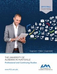 the university of alabama in huntsville - Osher Lifelong Learning ...