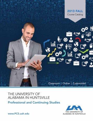 the university of alabama in huntsville - Osher Lifelong Learning ...