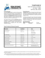 foamthane 50 - Polycoat Products