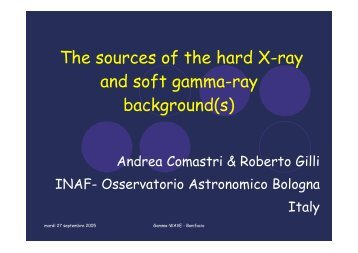 The sources of the hard X-ray and soft gamma-ray ... - Cesr