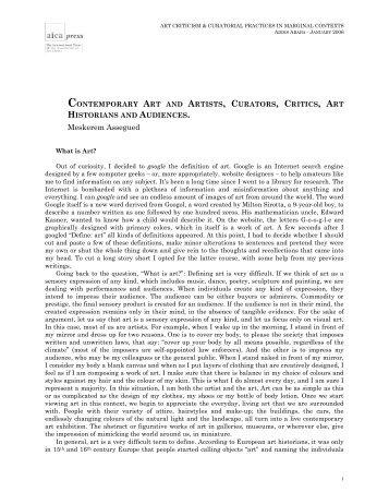 Meskerem ASSEGUED - Contemporary Art and ... - AICA international
