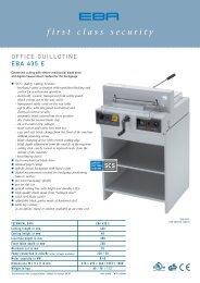 Office guillotine EBA 435 E