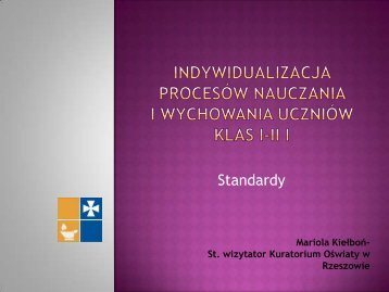 Indywidualizacja Procesów nauczania i ... - wup rzeszow.pl