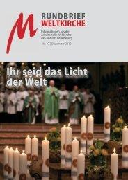 Nr. 19 - Dezember 2010 - Arbeitsstelle Weltkirche