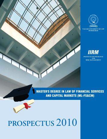 ML FS & CM Prospectus 2010.pdf - NALSAR University of Law