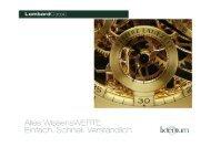 Beleihung hochwertiger Pfandgüter - LombardClassic