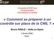 « Comment se préparer à un contrôle sur place de la CNIL ... - L'Afcdp