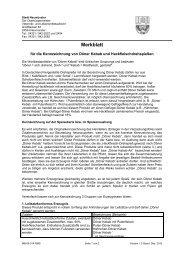 Merkblatt für den Umgang mit Lebensmitteln in ... - Stadt Neumünster