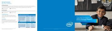 Intel Foundation 2010 Annual Report