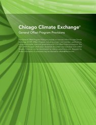 CCX General Offset Program Provisions - SCS Global Services