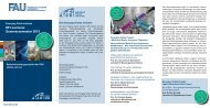EFI-Lectures Sommersemester 2013 - Emerging Fields Initiative