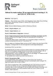 Referat TR-møde den 15. april 2013