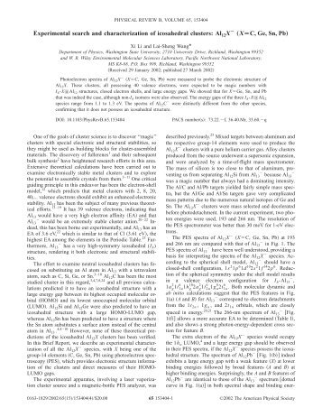 Experimental search and characterization of icosahedral clusters ...
