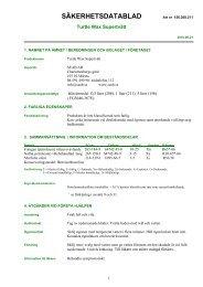 Säkerhetsdatablad (MSDS) (74 KB - pdf) - Jula