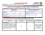 PLAN DE ACCION 2008 - Gobierno en línea.