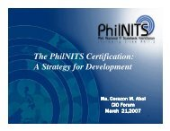 The PhilNITS Certification: A Strategy for Development