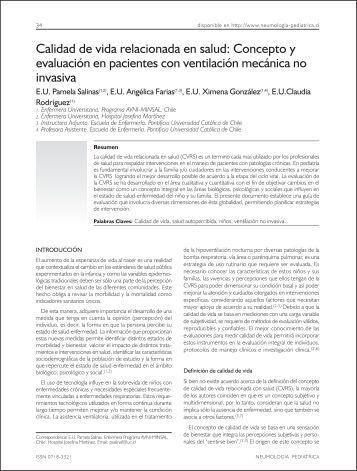 Calidad de vida relacionada en salud: Concepto y - Revista de ...