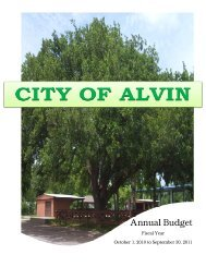 FY 2010-2011 Annual Budget - City of Alvin