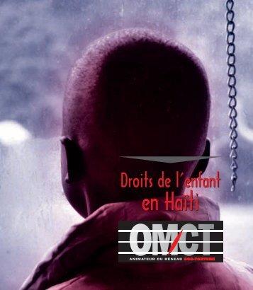Droits de l'enfant en Haïti - World Organisation Against Torture