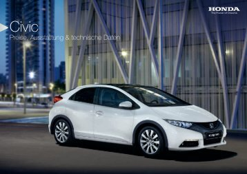 Preise, Ausstattung & technische Daten - Honda
