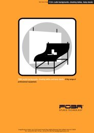 FOBA Studio backgrounds, Shooting Tables And Lamp Stands