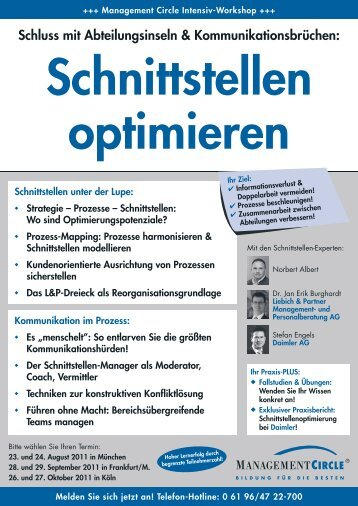 Seminar: Schnittstellen optimieren - Management Circle AG