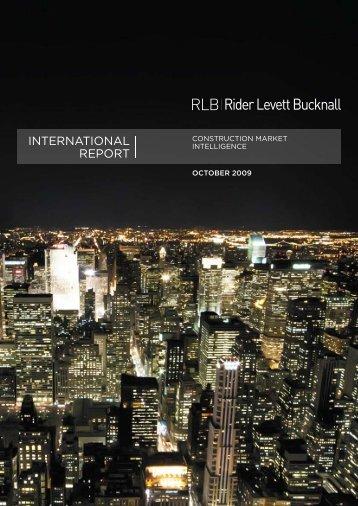 INTERNATIONAL REPORT - Rider Levett Bucknall