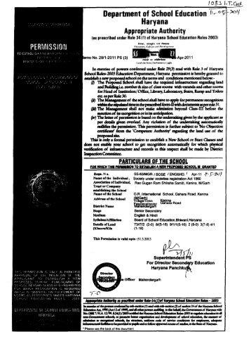 Haryana Appropriate Authority - Directorate of School Education ...