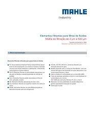 Elementos filtrantes para filtros de fluídos - MAHLE Industry - Filtration