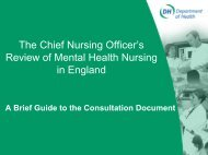 The Chief Nursing Officer's Review of Mental Health Nursing in ...