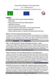Europe-Africa Research & Innovation News n°3 – February 2013