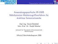 Anwendungsspezifische IR-UWB Mehrbenutzer ...