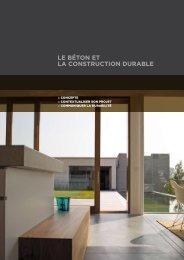 LE BÉTON ET LA CONSTRUCTION DURABLE - Febelcem