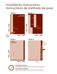 Installation Instructions Instructions de méthode de pose - Lumber ...