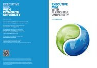 EXECUTIVE mba WITH PLYmOUTH UNIVERSITY EXECUTIVE mba ...