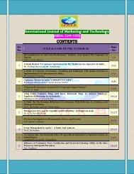 ISSN: 2249 - International Journals of Multidisciplinary Research ...