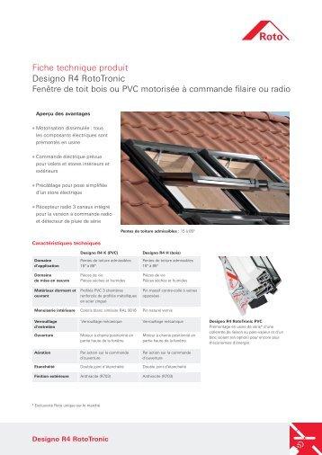 Fiche technique produit Designo R4 RotoTronic - La Fenêtre de Toit ...