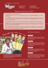 Newsletter Juni 2010 - Parfümerie Wigger