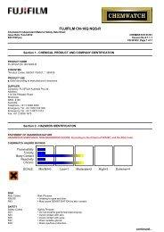 Chemwatch Australian MSDS 53101 - FUJIFILM Australia