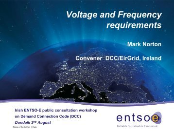 DCC Voltage and Frequency - Eirgrid