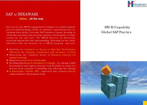SAP AT HEXAWARE Value... all the way