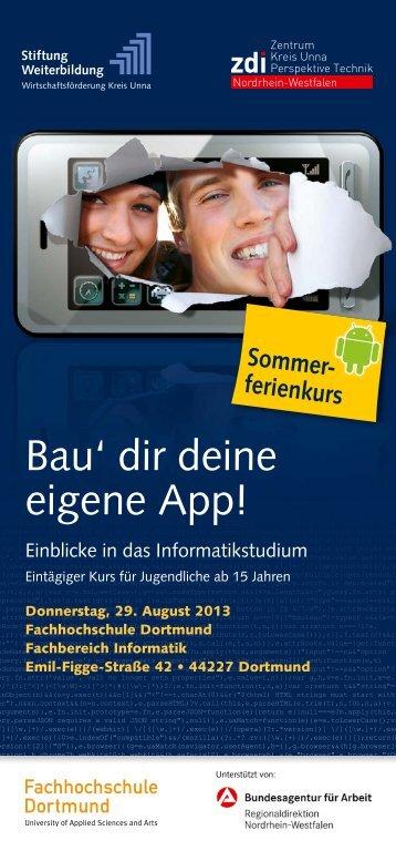 Bau' dir deine eigene App! - Fachhochschule Dortmund