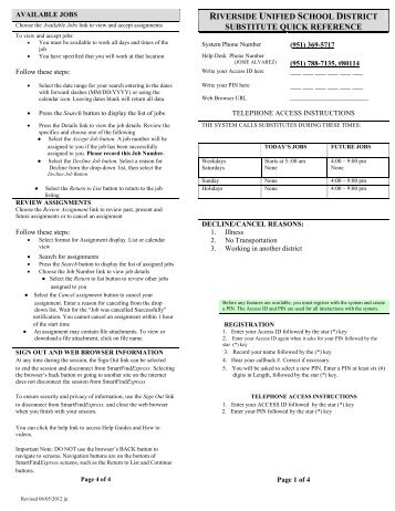 SmartFind Express Quick Reference Guide - Riverside Unified ...
