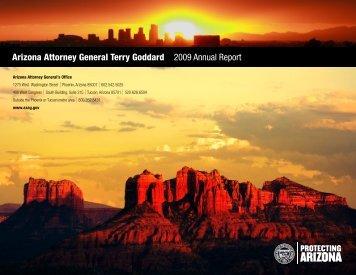 Arizona Attorney General Terry Goddard 2009 Annual Report