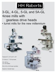 to download our knee mill catalogue. - HH Roberts Machinery