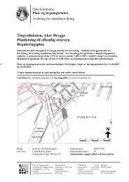 Tingvallakaien, Aker Brygge Planforslag til offentlig ettersyn ...