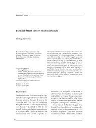 Familial breast cancer: recent advances - anubih